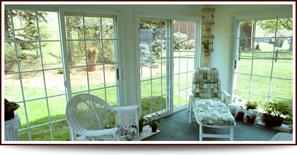 Delightful Sliding Patio Doors Enclosing A Patio.
